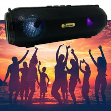 Cassa speaker bluetooth BT altoparlante radio FM luce LED USB AUX musica TF card