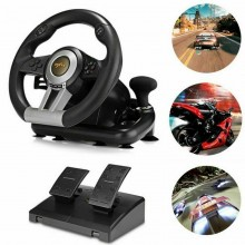Volante gaming sportivo pedali compatibile PC PS XBOX console steering wheel