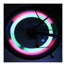 4x Segnalatori bicicletta luci led ruote raggi bici segnalazione notte luce