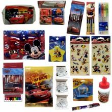 Kit scuola Bambino set accessori Cars Topolino Disney bambini asilo 23 pezzi
