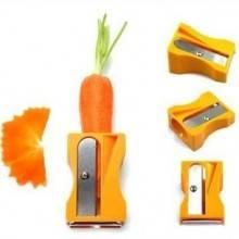 Temperino pela e sbuccia a spirale per carote zucchine e simili con lama pela cucina tempera taglia e pela verdura