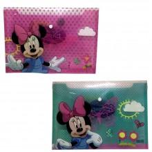 2x Cartellina Minnie Disney portadocumenti fogli scuola bambina cartoon cartella