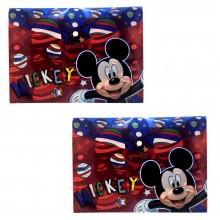 2x Cartellina Mickey mouse Disney porta fogli Topolino scuola bambino cartella