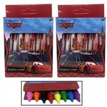 16 Pastelli a cera Disney Cars bambini colorare disegnare scuola colori misti