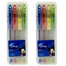 2x Set pennarelli Glitter Disney Topolino scuola bambini 8pz penne Mickey mouse