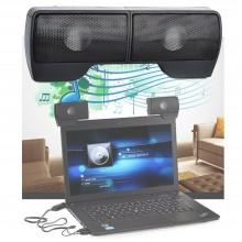 Casse audio PC jack 3.5mm suono stereo PC notebook device clip monitor scrivania