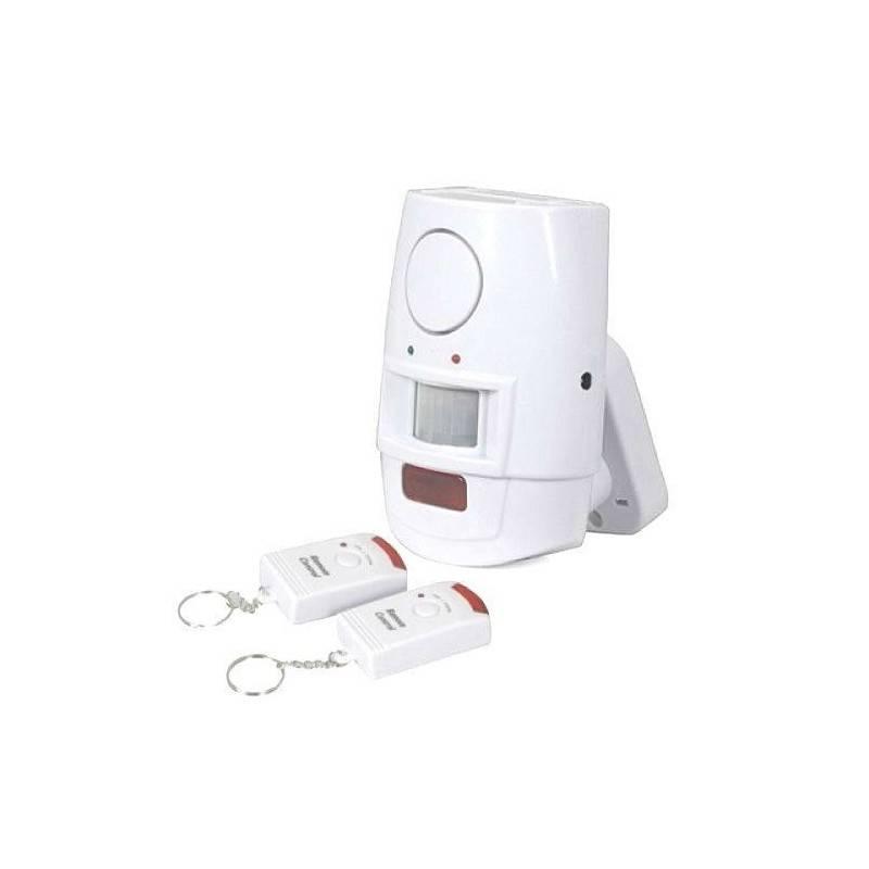 Kit allarme antifurto casa ufficio box sirena 105 DB wireless con 2 telecomandi