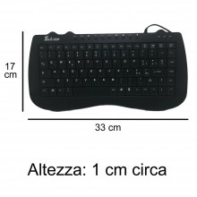 Tastiera USB ultra sottile cablata PC notebook Waterproof computer keyboard