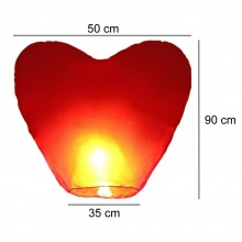 10x Lanterna mongolfiera cinese volante forma CUORE festa matrimonio lanterne