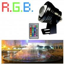 Faretto proiettore LED 10W immersione subacqueo luce fredda calda RGB Multicolor