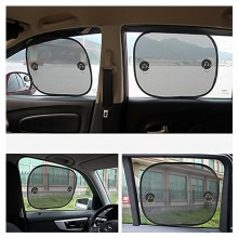 2x Tendine parasole auto universali 44x38cm vetro laterale finestrini flessibili