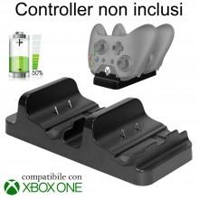 Stand NERO supporto ricarica controller Xbox ONE S doppio caricatore Joystick
