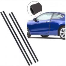 set 4 strisce Protezioni salva portiere NERE auto automobile sportelli 68 cm 88 cm