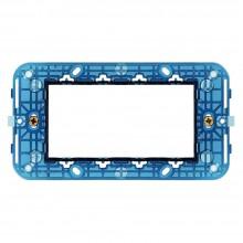 5x Supporti placca blu 4 moduli pulsanti interruttori prese a muro casa ufficio negozio C1804