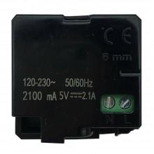 Modulo presa C2219 attacco USB doppio 2.1A caricatore compatibile matix bticino