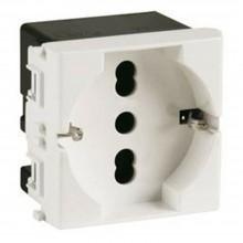 Modulo presa schuko 2P+T C2208 compatibile BTicino matix presa corrente 10/16A