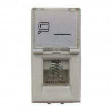 Modulo connettore RJ45 UTP 5E C2213 compatibile BTicino matix bianco 16Mb/s