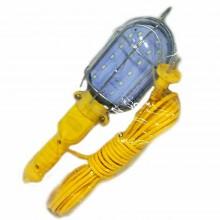 Lampada da lavoro 24 SMD LED plastica ABS gancio cavo 10mt presa schuko officina