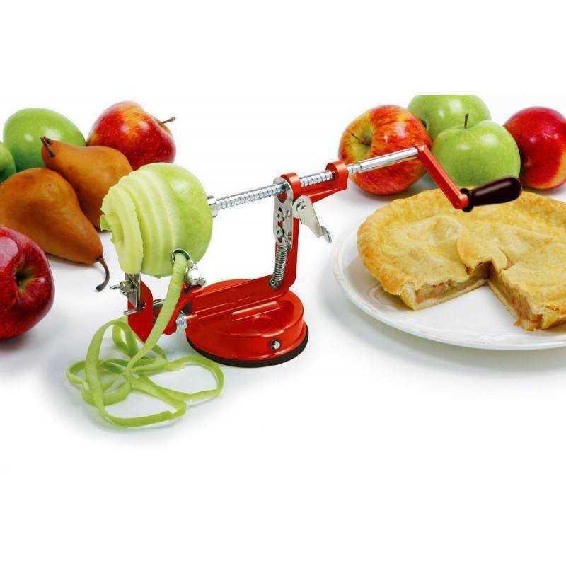Sbuccia mela a spirale manuale 3 in 1 sbuccia frutta e verdura con asse e lame in acciaio e ventose.