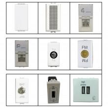 Moduli elettrici componenti impianti compatibili BTicino Matix prese muro CLA