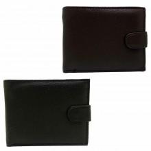 Portafoglio uomo carte di credito porta tessere monete POIS PT220 marrone nero