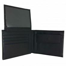 Portafoglio uomo carte di credito porta tessere monete POIS PT221 marrone nero