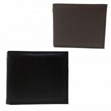 Portafoglio uomo carte di credito porta tessere monete POIS PT222 marrone nero