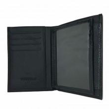 Portafoglio uomo carte di credito porta tessere monete POIS PT223 marrone nero