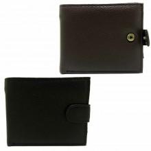 Portafoglio uomo carte di credito porta tessere monete POIS PT660 marrone nero