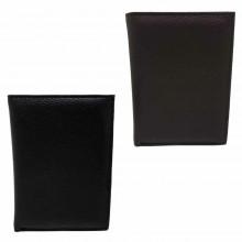 Portafoglio uomo carte di credito porta tessere monete POIS PT661 marrone nero