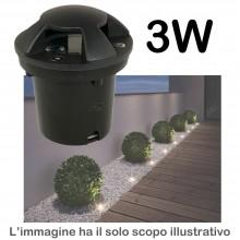 Faretto a incasso calpestabile 3W IP65 esterno giardino luce LED 9901 270LM