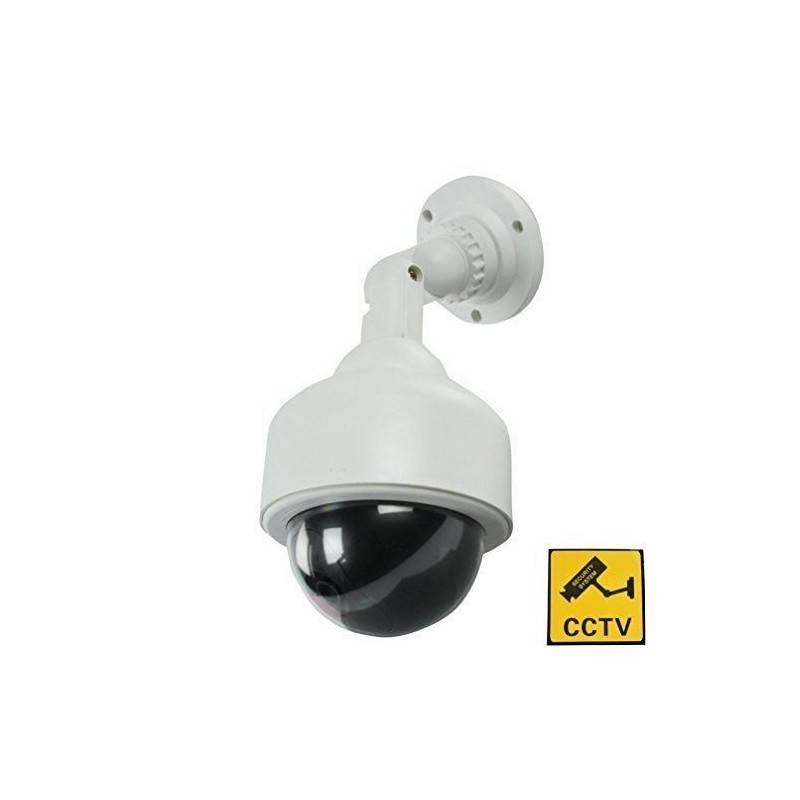 BestOfferBuy - Telecamera finta di sorveglianza PTZ con LED lampeggiante, modello a cupola