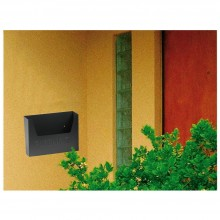 Cassetta PUBBLICITA posta lettere aperta in ferro grigio antracite 34x7x25cm