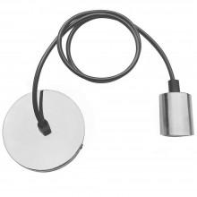Portalampada cromato a sospensione lampadine E27 lampadario pendente 1M
