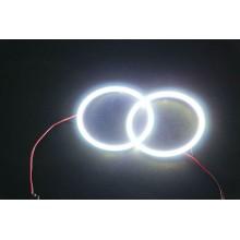Coppia Fari anelli auto Angel eyes 90MM Luce Bianca LED universali faro veicoli