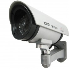 Telecamera di sicurezza finta led lampeggiante tvcc sensore videosorveglianza