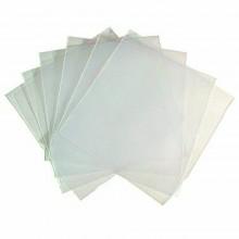 100 Bustine porta CD custodia trasparente PVC DVD vuote con aletta chiusura
