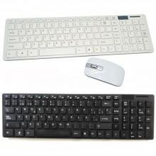 Kit Tastiera mouse mini wireless 2.4GHz senza fili PC keyboard USB wifi computer