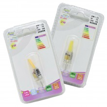 Coppia Lampadine LED Attacco G4 luce Calda Fredda 2W 3W 5W ricambi lampadina