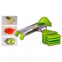 Tagliaverdure affetta verdure manuale con lama di precisione mandolina Shredder taglio da 4 a 12 mm.