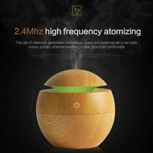 Diffusore aroma umidificatore aria casa Rotondo 130ml portatile silenzioso LED