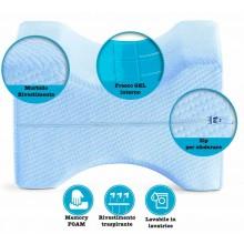 Cuscino memory gel supporto gambe dormire di lato sciatica lombalgia gravidanza