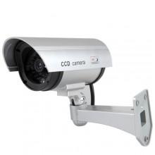 Finta telecamera di sorveglianza con Led lampeggiante e base di fissaggio