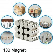100 Magneti 1 - 0.5 cm calamite multiuso calamita neodimio tonde potenti casa