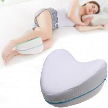 Cuscino memory foam tra le gambe ginocchia sciatica lombalgia gravidanza bianco