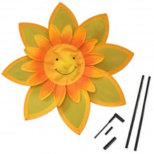 2x Girandola a vento mulino GIRASOLE smile giocattoli bimbi girandole 31cm diam