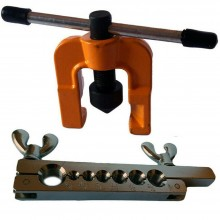 Set pagliettatrice tubi rame kit 2 pezzi svasatrice flangiatubi cartellatrice