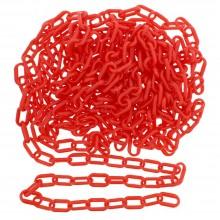 Catena in plastica ROSSA recinzioni segnaletica 8mm 6mm 3 Metri colore rosso