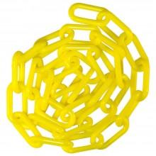 Catena in plastica GIALLA recinzioni segnaletica 8mm 6mm 3 Metri colore giallo