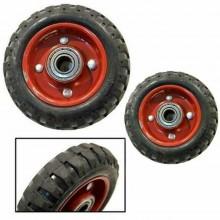 Coppia ruote carrello portapacchi rotelle ricambio ruota piena trasloco